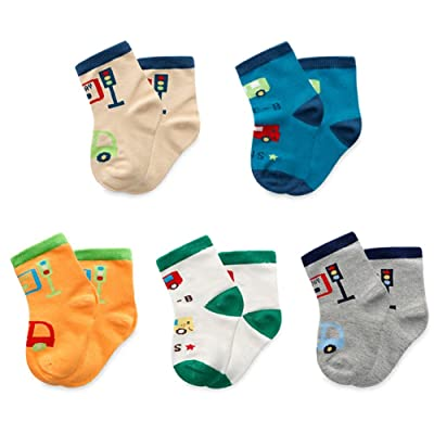 CHUNG Girls Boys 5 Pack Thin Cotton Crew Socks Cute Cartoon Design 1-9Y