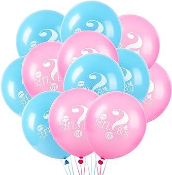 Baby Shower Fiesta Decoración Carta Foil Balloon Azul y Rosa Bebé Fiesta