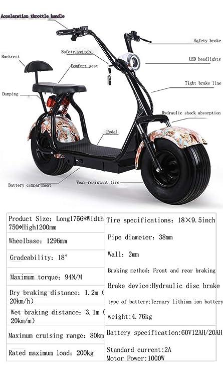 Moto Electrica Scooter Ciclomotor Electrico de 1500w bateria ...