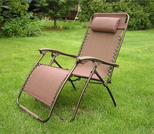 Styled Shopping Extra Wide Oversized Brown Zero Gravity Chair