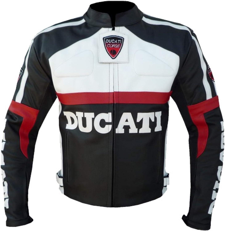 Ducati 3039 - Chaqueta de piel de vacuno, color negro