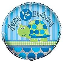 "18"" Foil Turtle 1st Birthday Balloon"