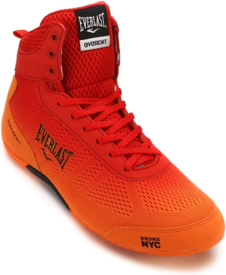Everlast, Force Knit - Botas de Boxeo para Hombre, Color Azul y Naranja, Rojo y Naranja, 45 (11): Amazon.es: Deportes y aire libre