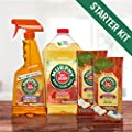 Murphy Oil Soap Wood Cleaner Starter Kit - 32oz Pour, 22oz Spray, 2 packs of 18 Wipes