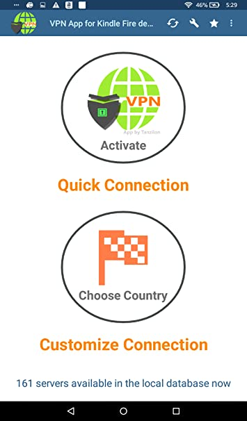 Amazon.com: VPN App for kindle Fire devices (By Tanzilon): Appstore for Android