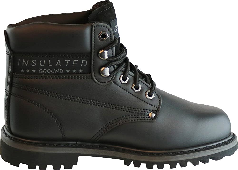 Cambridge Select Mens Lace-Up Padded Collar Lug Sole Construction Work Boot