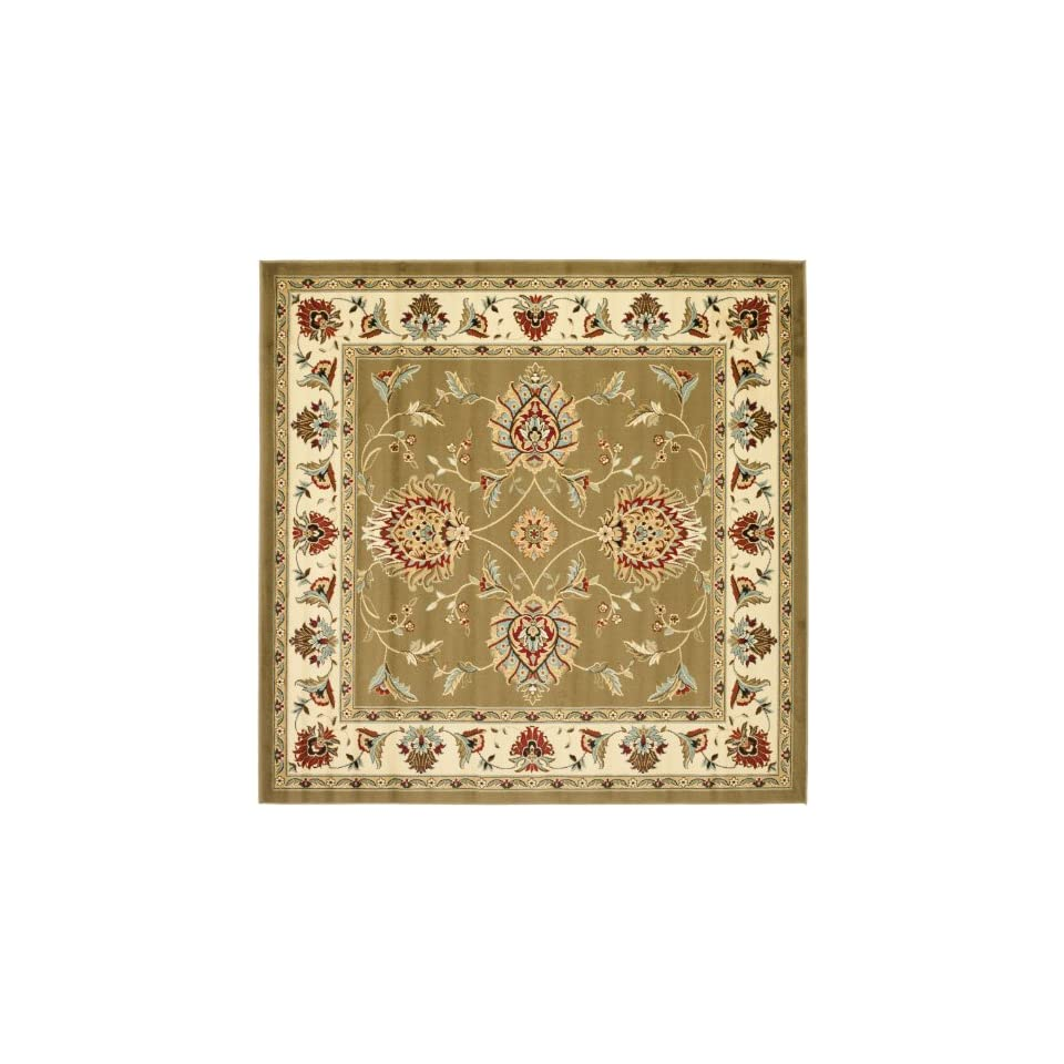 Safavieh Lyndhurst Collection LNH555 5212 Traditional Oriental Green and Ivory Square Area Rug (67 Square)