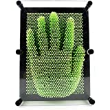 Adorox Plastic Pin Art Board Novelty Toy Fun Kids Multiple Colors Sizes (7 inches, Green)