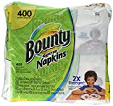 Bounty 06356 Quilted Napkins, 1-Ply, 12.2 x 12, White, 200/Pack, 400/Carton