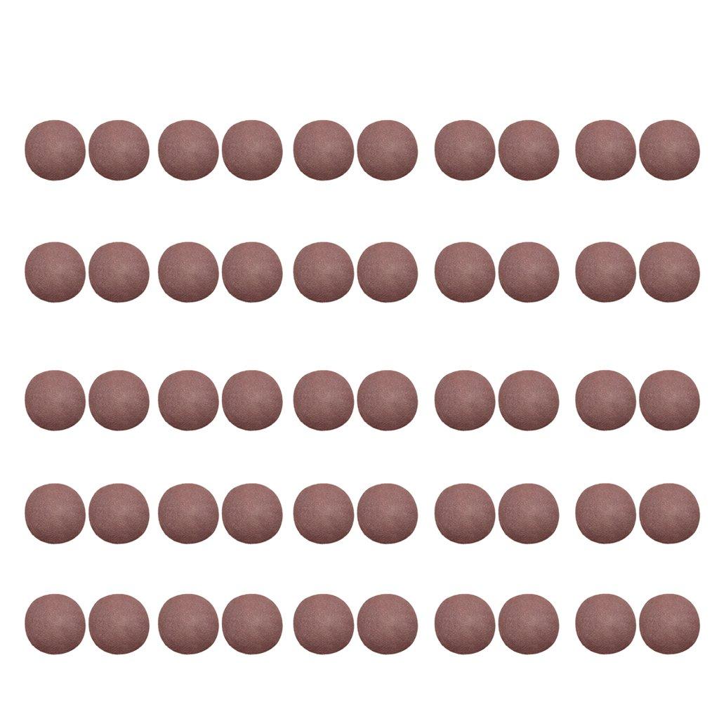 Homyl Schleifscheiben Klett-Schleifpapier Ø 125 mm 50 Stück Körnung 40/60/80/100/120/150/180/240/320/400/600/800/1000/1200/1500/2000 Exzenter-Schleifer Set - 2000 Körnung