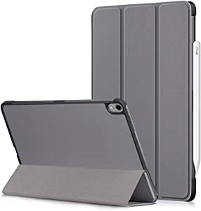 """Folio Case for iPad Pro 11"""" 2018 Tablet, iPad Pro 11 Case Support iPad Pencil Charging, DETUOSI【Auto Sleep/Wake】 Slim Lightweight Trifold Stand Smart Cover for iPad Pro 11 inch 2018 Tablet,Grey"""