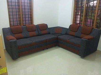 FARNBRO Furniture Fabric Sofa Set 3+2+1 Green Colour