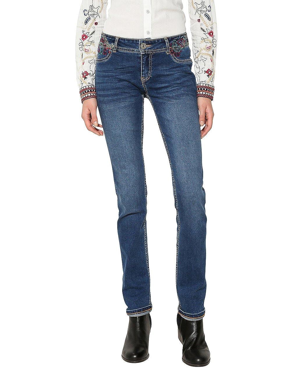 Desigual Denim_refriposas, Pantalones Vaqueros Delgados para Mujer