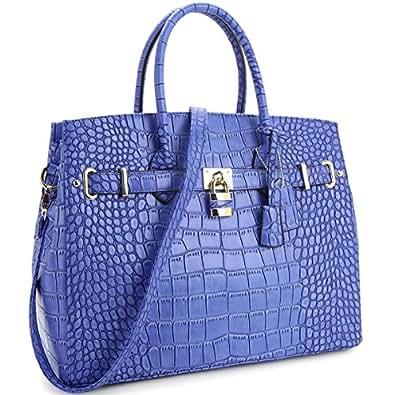 MyLux WOMEN Designer Shoulder Bag 1006 BLUE