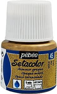 Pebeo Setacolor - Pintura para Tela (Opaca tornasolada, 45 ml), Color Dorado