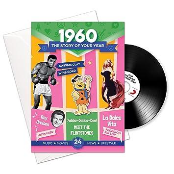 1960 cumpleaños o aniversario regalos - 1960 4-en-1 tarjeta ...