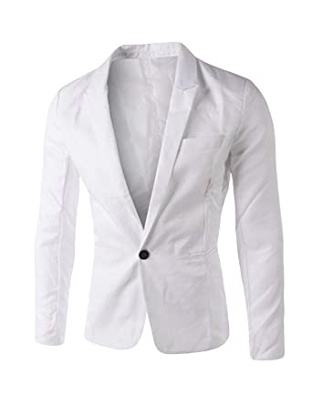 Letuwj Homme Costume Un Button Veste Blazer  Amazon.fr  Vêtements et ... a42befdcd72