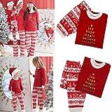 Bifast Christmas Family Matching Pajamas Sleepwear Sets for The Family Xams Gift