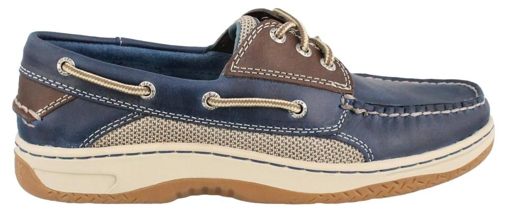Sperry Men's Billfish 3-Eye Boat Shoe, Navy/Brown, 13 M US