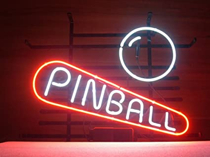 6e933bb05d1a New Pinball Game Room Real Glass Neon Light Sign Beer Bar Pub Sign ...