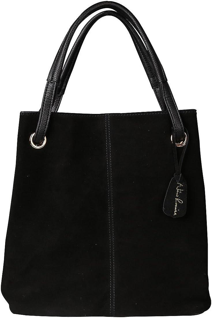 Nico Louise Women's Genuine Leather Suede Purse Shoulder Bag Casual Tote Handbag