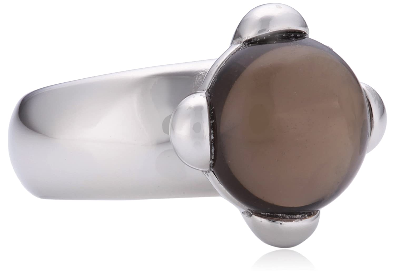 XEN Ring mit 16x11mm großen Rauchquarz