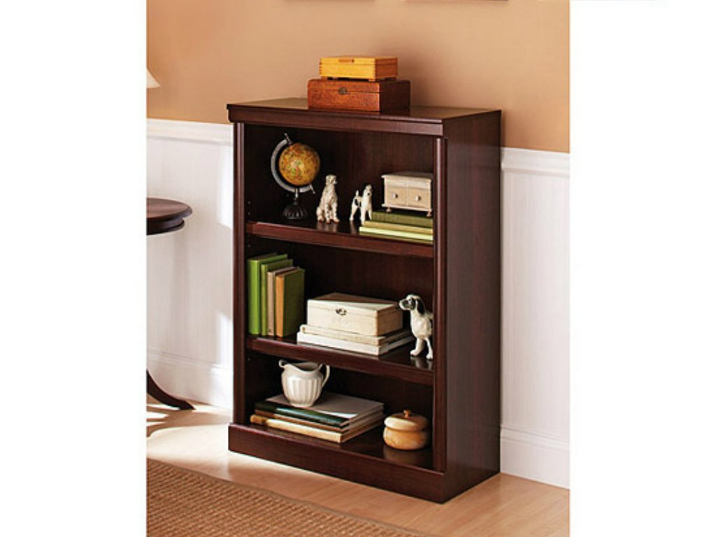 Better Homes and Gardens Wood Composite 3-Shelf Bookcase in Cherry Finish