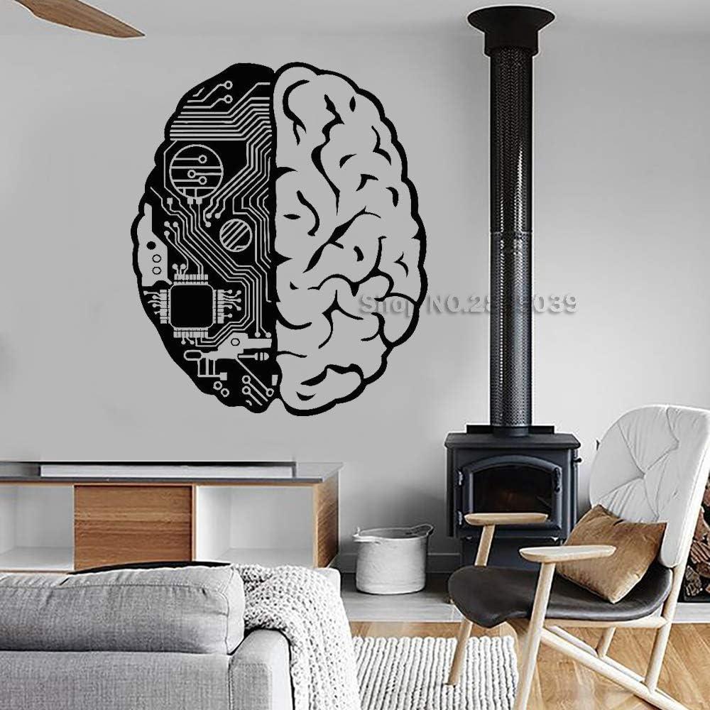 S 56 cm x 67 cm cerebro Chip ingeniero vinilo pegatinas de pared ...