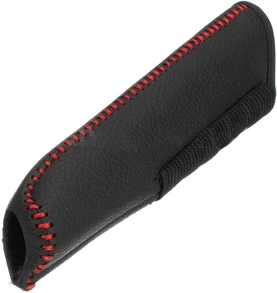 Linea Rossa Nera 8 PQZATX Leather Custodia Protettiva per Copertura Freno a Mano per//Accord