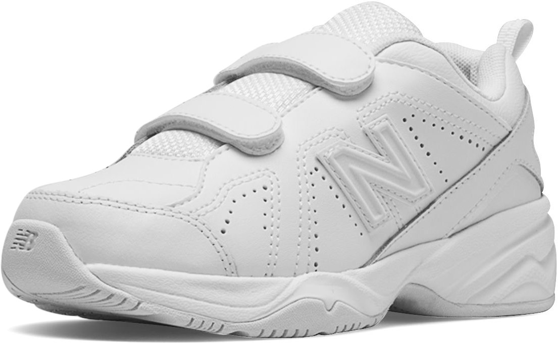 New Balance Boys' KV624 Hook and Loop Training Shoe, White, 11.5 M US Little Kid