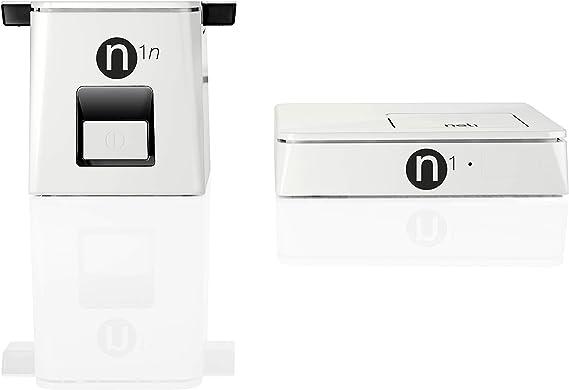 NELI - Receptor de TDT HD (base con sintonización triple y decodificador secundario) con Powerline Duo N1 - No necesita toma de antena - Blanco