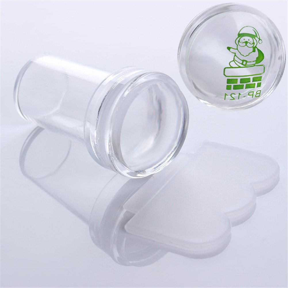 Born Pretty 4cm XL Clear Silicone Marshmallow Jelly Stamper with Cap Nail Art Stamper & Scraper #26497