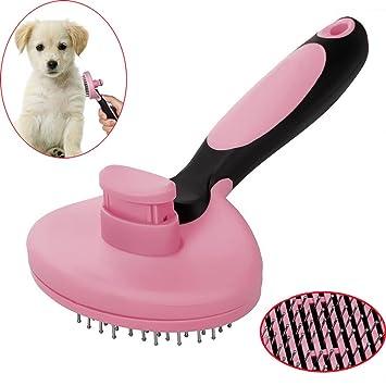 Pawaca Cepillo de aseo para mascotas para perros y gatos, fácil de limpiar, herramienta