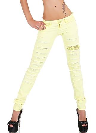 Cindy H - Jeans - Slim - Femme Jaune Jaune 30  Amazon.fr  Vêtements ... cafec708c9e