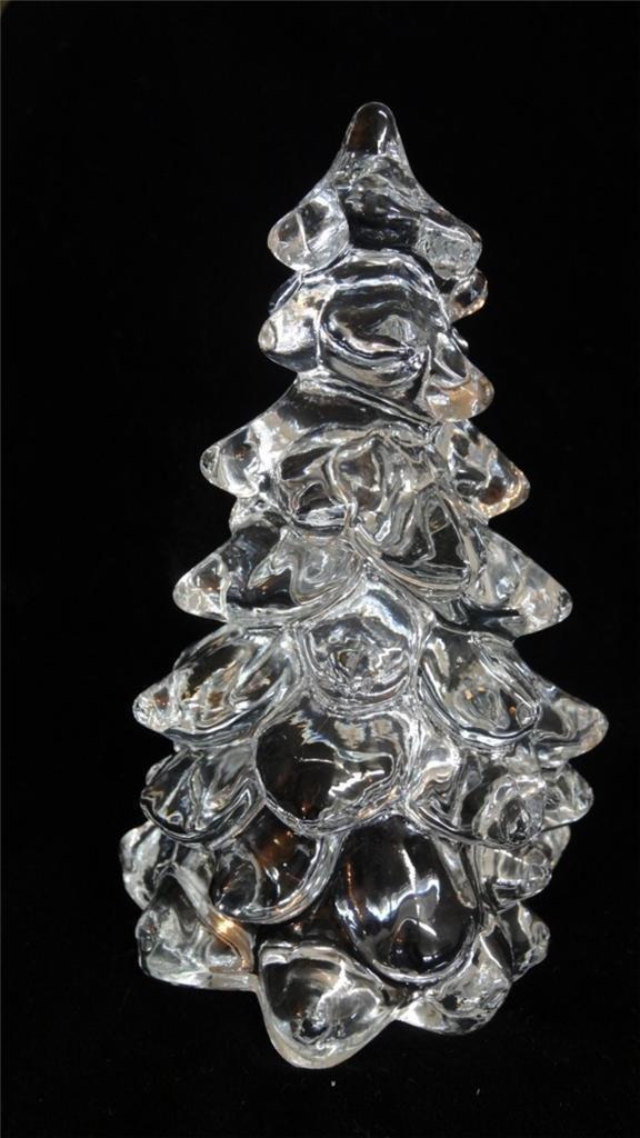 Amazon 8 Solid Crystal Glass Christmas Tree Handmade Home