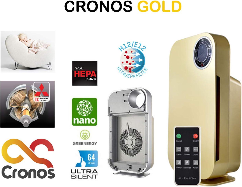 CRONOS Gold Purificador de Aire con Filtro HEPA, Filtro de carbón ...