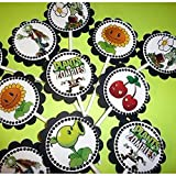 "30 Party ""Plants vs Zombies"" Dimensional Cupcake Toppers Sticks"