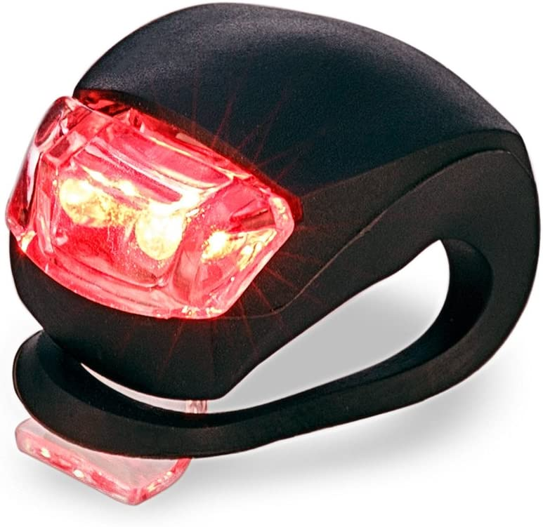 + 2 x Noir LUZWAY /Éclairages V/élo LED Silicone Lumi/ère V/élo Avant et Arri/ère,Lampe LED de V/élo Antichoc Impermeable,pour VTT VTC Cycliste Poussette Camping 2 x Noir LED Rouge LED Blanc