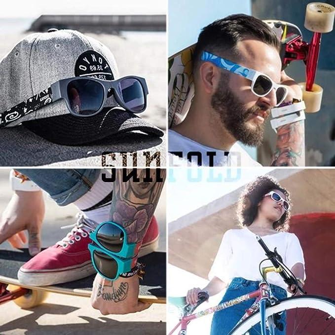 Sunfold Pastel Gafas de Sol Enrollables, Hombre