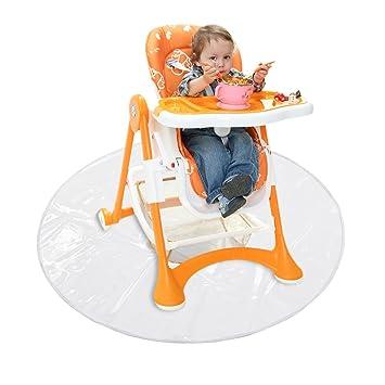 Waterproof Under High Chair Feeding Spill Splat Mats Messy Play Catch All Protector Cover Happy Dino Kenley Baby Highchair Floor Splash Mat