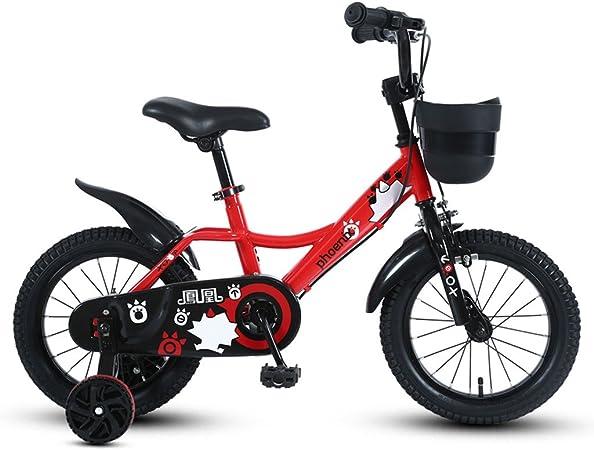 Bicicletas para Niños 3-5-7-9 Años Niños Ciclismo 14/16/18 Pulgadas Niños Bicicletas de Tres Ruedas Mountain Bike Red (Size : 14 Inches): Amazon.es: Hogar