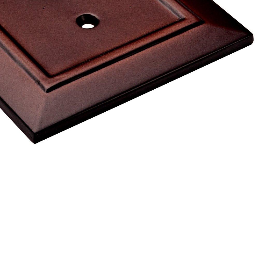 Franklin Brass W35252-ESO-C Classic Architecture Quad Decorator Wall Plate//Switch Plate//Cover Espresso Liberty Hardware Manufacturing Corporation
