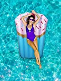 Ideas In Life Inflatable Pool Floats for Adults Funny - Giant Floaties for Adults Food Pool Floats - Cupcake Pool Floatie