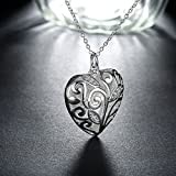 Buycitky Tree of Life Heart Pendant Necklaces for