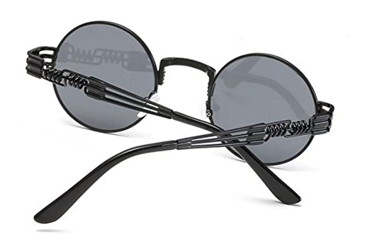 332bbe2b00 Amazon.com  WebDeals - Round Circle Metal Sunglasses Steampunk Bold Design  Frame (Black