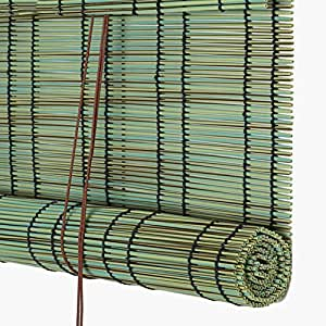 CAIJUN Plástico PE Simulación Persiana De Bambú Romana Shade A Prueba De Agua Estilo Chino, 3 Colores, 22 Tallas (Color : B, Tamaño : 100x120cm)