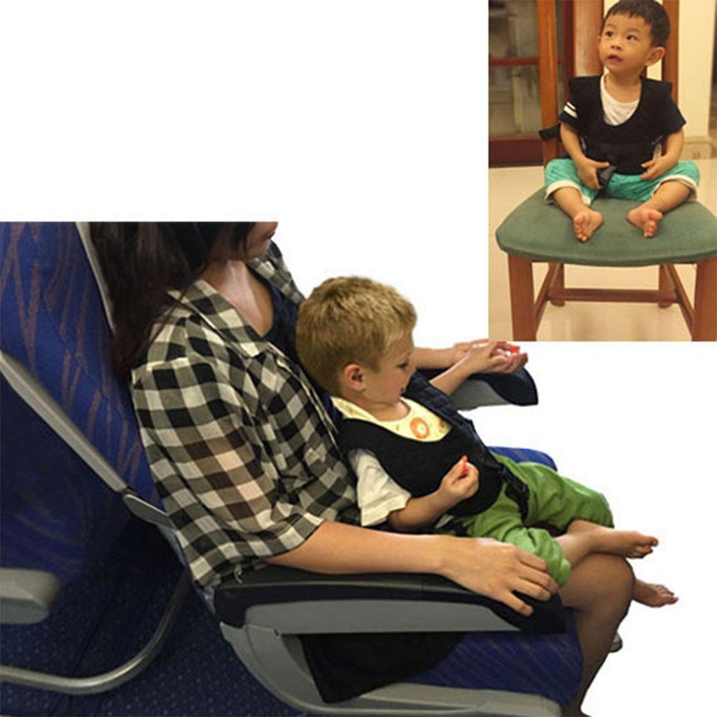 Vine Flugzeug Zug Stuhl Sicherheitsgurt Vest Dual-Use f/ür Baby-0,5-2 Jahre Schwarz
