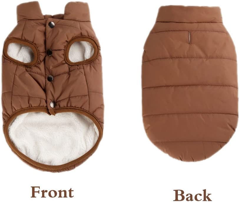 Winter Cold Weather Dog Coat Warm Snowsuit Windproof Fleece Dog Jacket Soft Solid Colour Dog Vest for Dog Cat and The Animal Fits for The Chart We Show