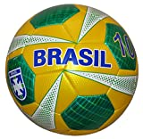 Vizari Brazil Soccer Ball, Yellow, Size 4