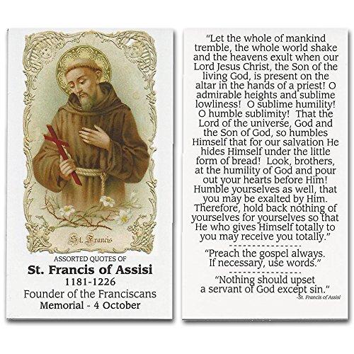 St. Francis of Assisi Prayer Card 10 Pk